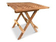 Load image into Gallery viewer, teak garden furniture folding picnic table 50x50x45