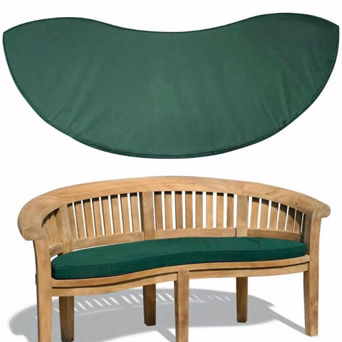 teak banana bench cushion