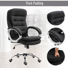 Load image into Gallery viewer, Vinsetto Office Chair Rock 360° Rolling Lumbar Support Adjustable Height Work