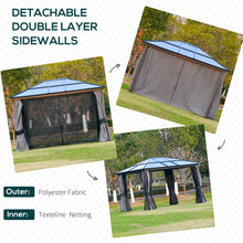 Load image into Gallery viewer, Outsunny Patio Garden PC Board Aluminium Hardtop Gazebo with Curtains and Netting Party Wedding Marquee Tent 3.6 x 3(m)