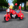HOMCOM Children Ride On Toy Car Kids Motorbike Motorcycle Electric Scooter Motor Bicycle 6V Battery Operated Toy Trike (Red)