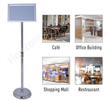 Load image into Gallery viewer, HOMCOM A4 Menu Poster Holder Display Frame W/ Stand-Silver