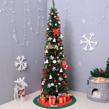 Load image into Gallery viewer, HOMCOM 2.1m Artificial Christmas Pine Tree W/Plastic Stand-Green