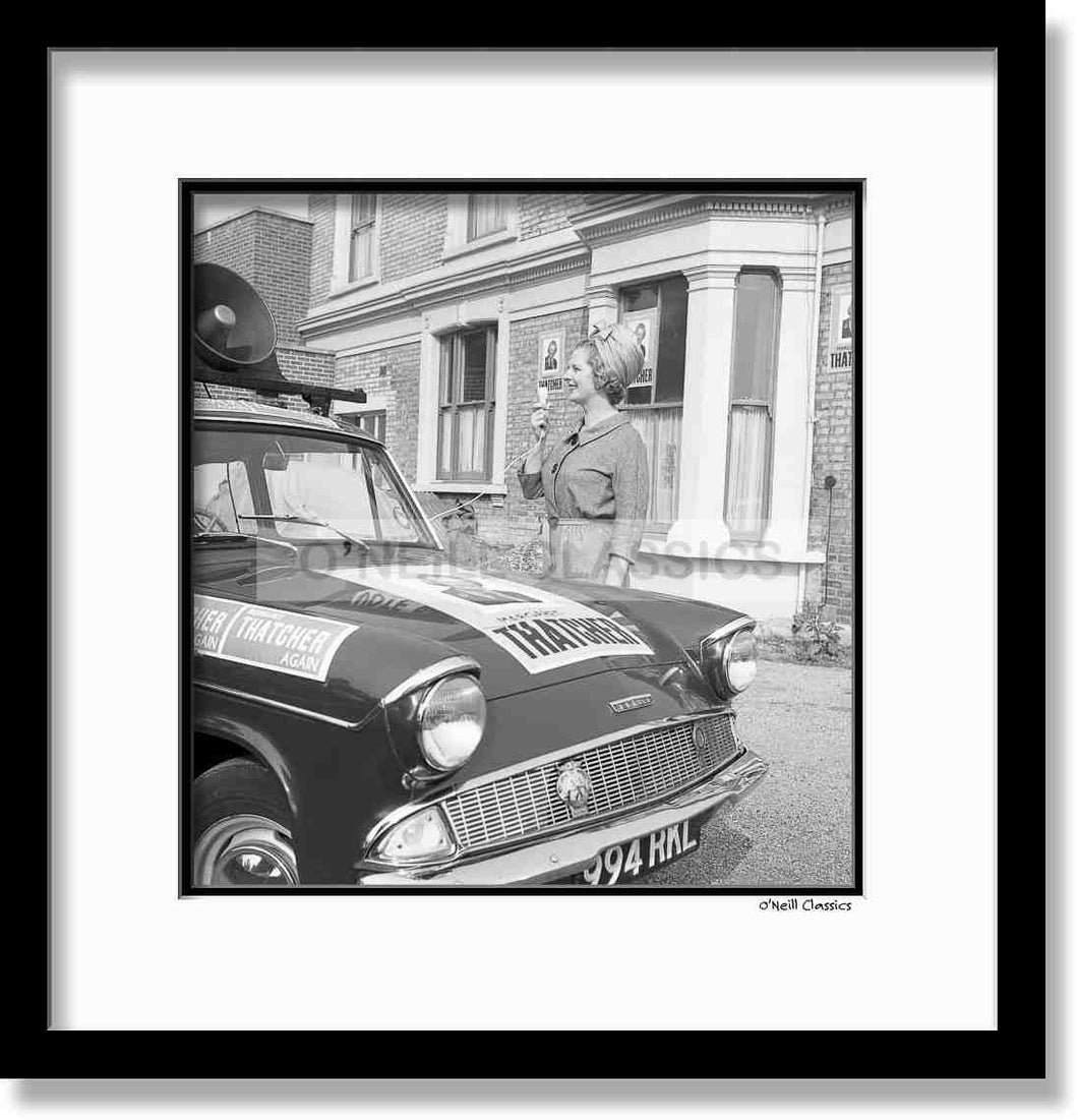 Margaret Thatcher - Framed B&W photograph