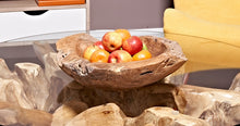 Load image into Gallery viewer, Teak Fruit Bowl reclaimed teak 40 cm solid teak root bowl home decor