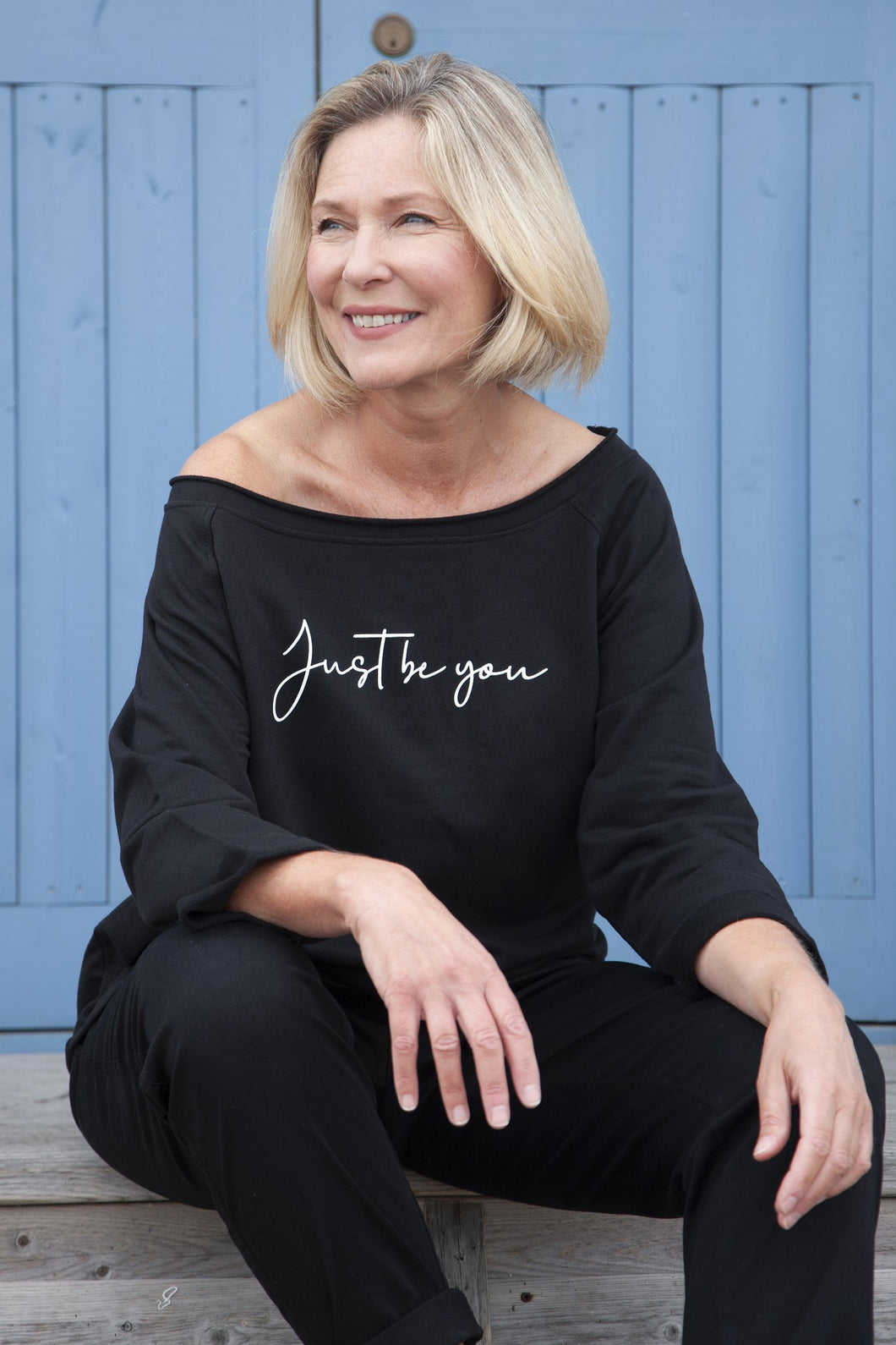 'Just be you' Women's Oversized Black Sweater