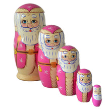 Load image into Gallery viewer, 5 Piece Santa Matryoshka Doll