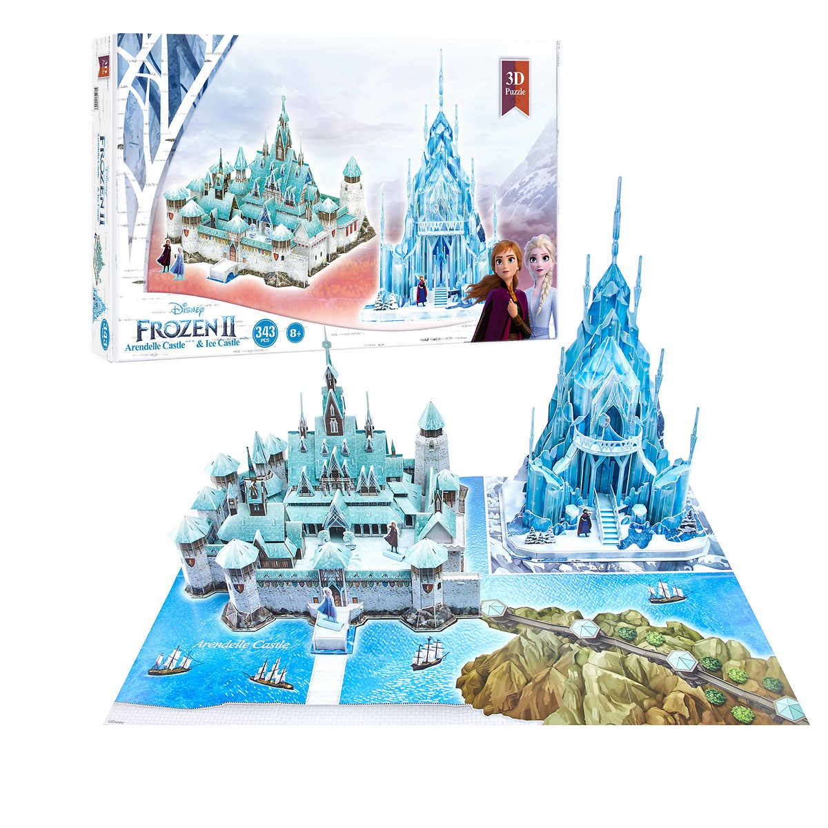Disney Frozen II Arendelle Castle & Ice Castle 343 Pcs 3D Puzzle 8 years +