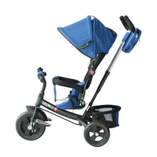 Load image into Gallery viewer, HOMCOM Baby Ride on Tricycle W/Canopy-Blue