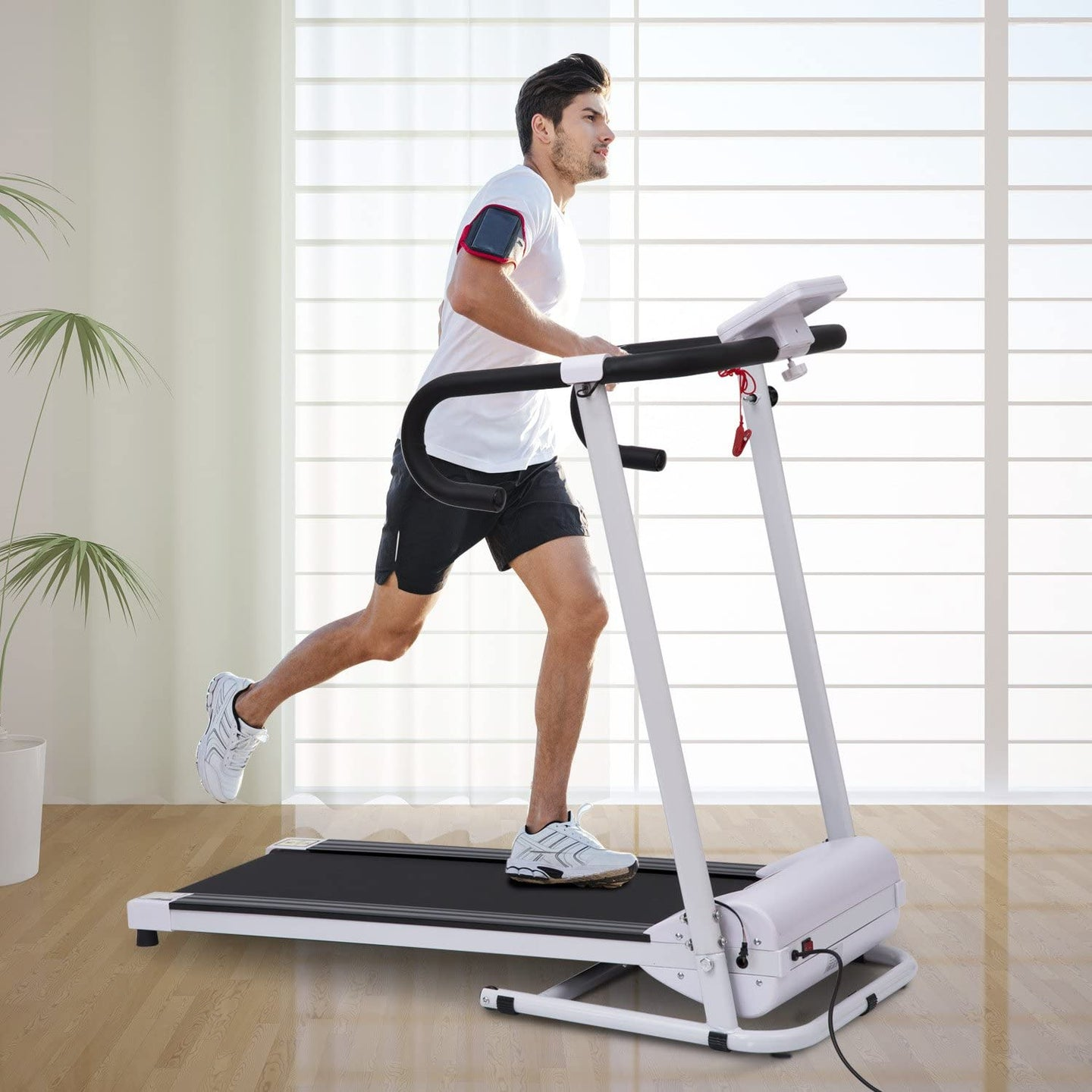 HOMCOM Electric Motorised Treadmill