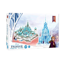 Load image into Gallery viewer, Disney Frozen II Arendelle Castle & Ice Castle 343 Pcs 3D Puzzle 8 years +