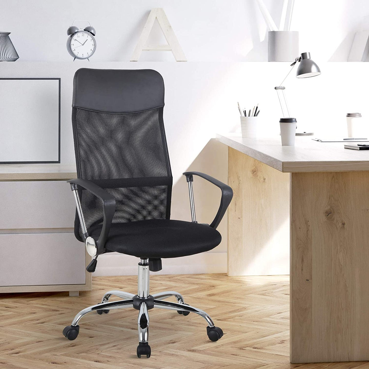 HOMCOM Swivel Office Chair-Black