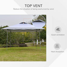 Load image into Gallery viewer, Outsunny 4 x 4m Pop-up Canopy Gazebo Tent with Roller Bag & Adjustable Legs Outdoor Party, Steel Frame