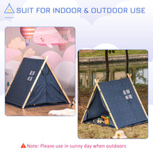 Load image into Gallery viewer, HOMCOM Kids Teepee Play Tent Portable Foldable Children Playhouse Toy for Boys and Girls with Mat Pillow Carry Case Indoor Outdoor Games Blue