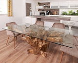 Rectangle Teak root table 2m x1m