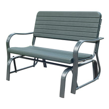 Load image into Gallery viewer, Outsunny Metal 2-Seater Outdoor Garden Rocker Bench Green
