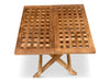 teak garden furniture folding picnic table 50x50x45