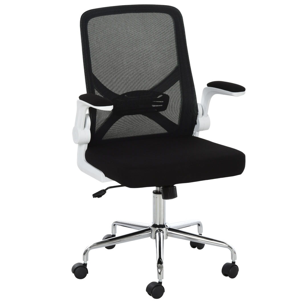Vinsetto Folding Back Office Chair Compact w/Lifting Arms Mesh Cushion Mesh Seat Adjustable Height 5 Wheels Swivel