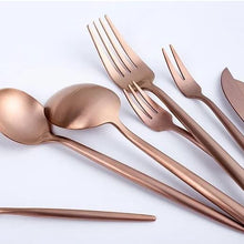 Load image into Gallery viewer, Rose Gold Cutlery Set