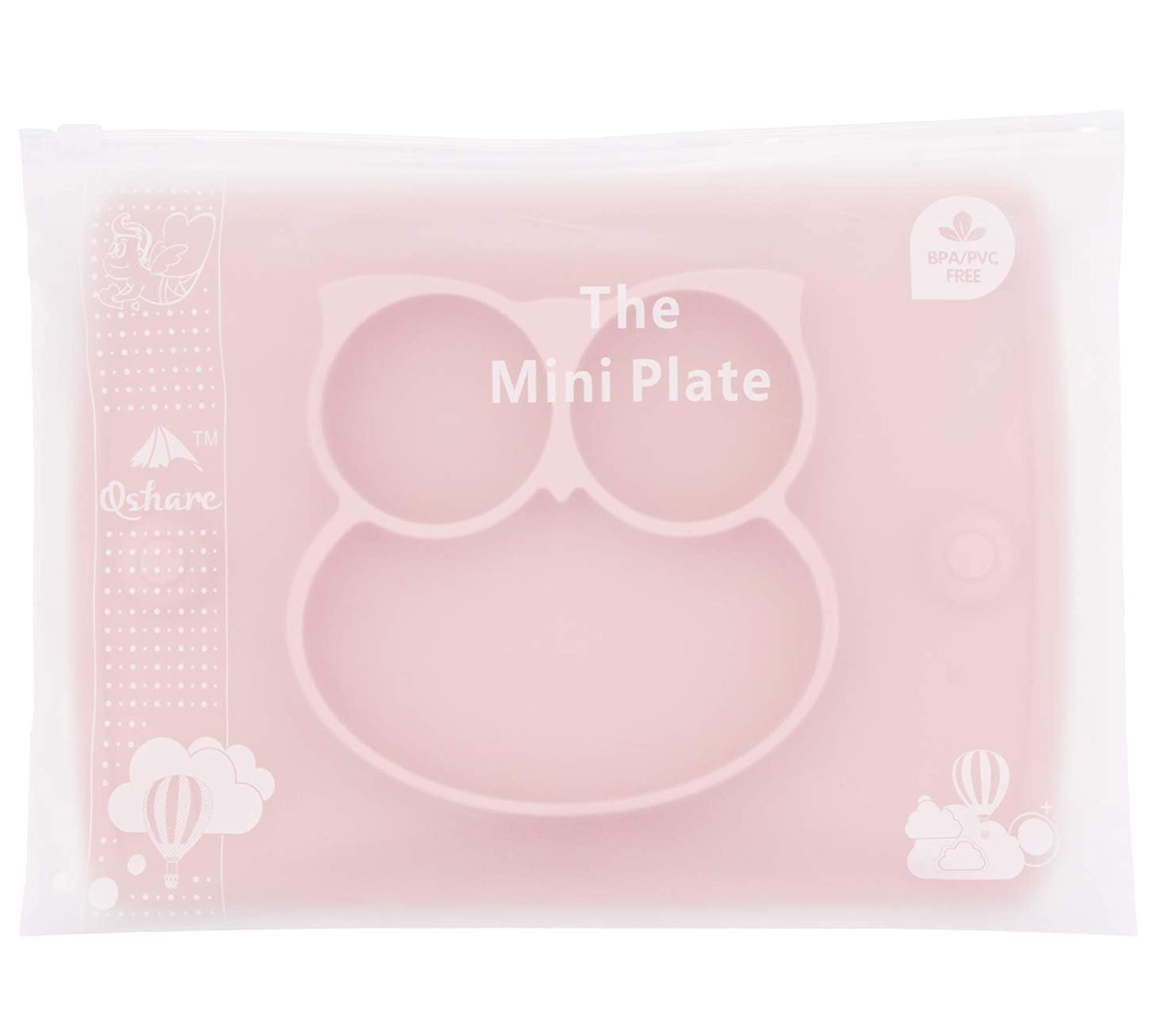 Portable Silicone Divided Plate Bowl