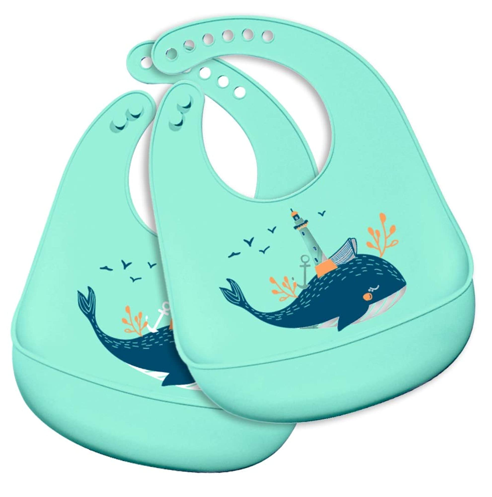 Silicone Waterproof Baby Toddlers Bibs