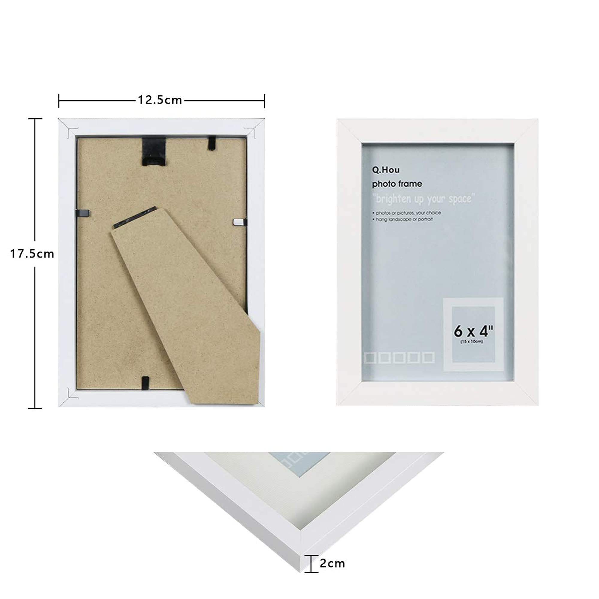 Wall Mount White Photo Frames Set