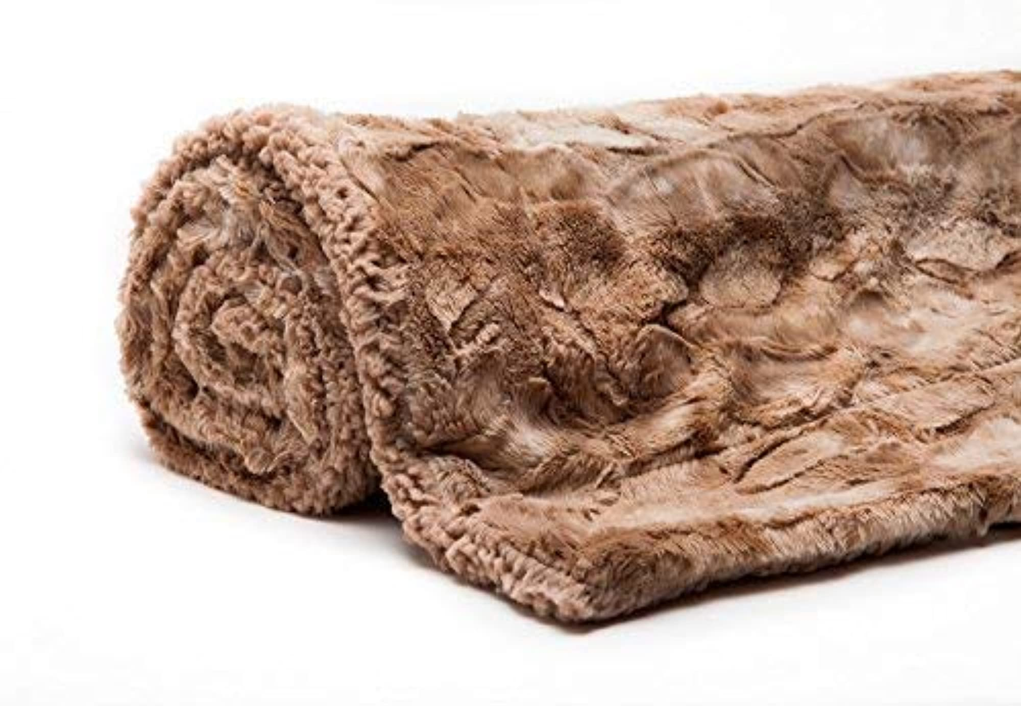 Fuzzy Faux Fur Throw Light Weight Blanket