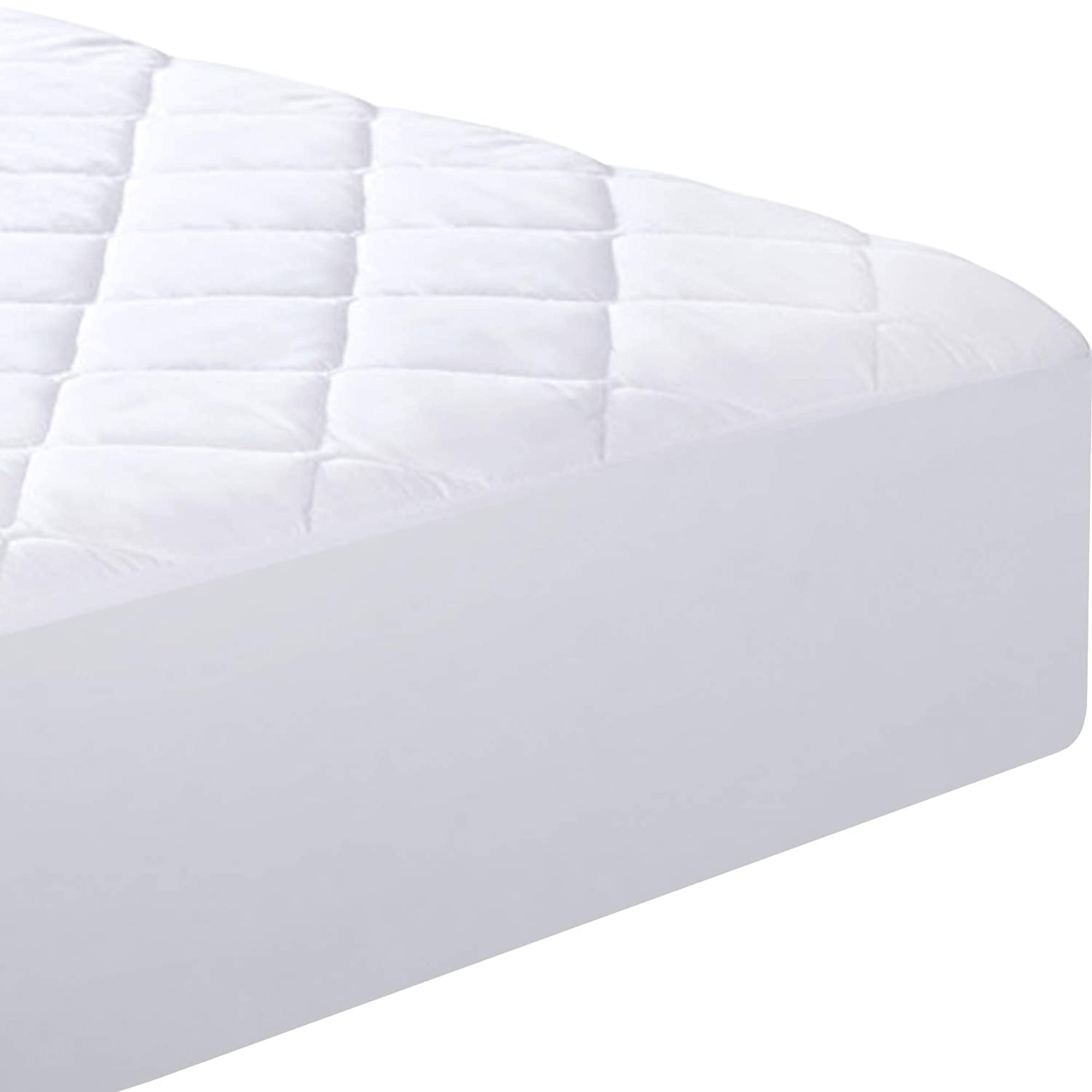 Quilted Fitted Mattress Pad (Twin) - Mattress Topper