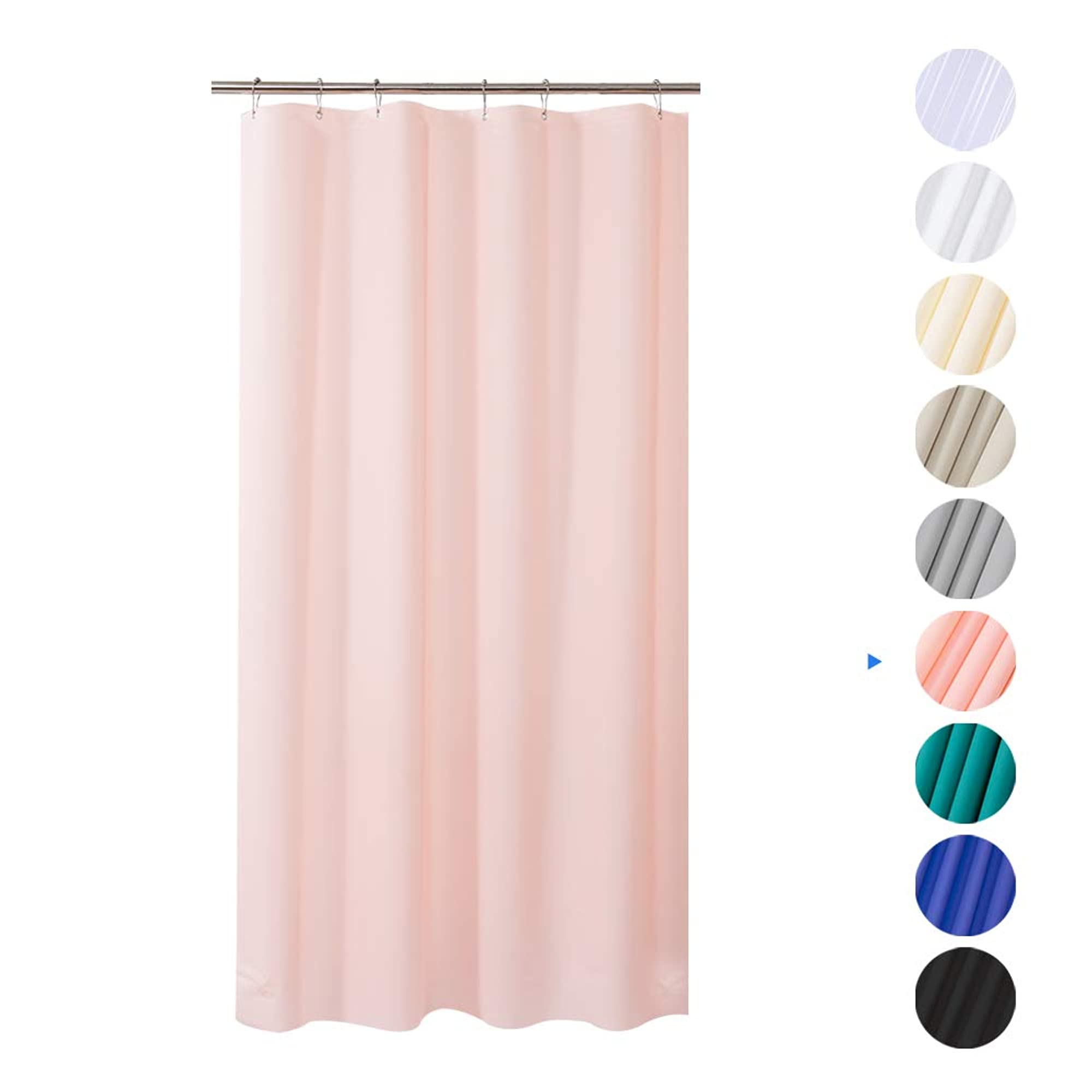 Eva 8G Waterproof Plastic Shower Curtains With Grommet Holes