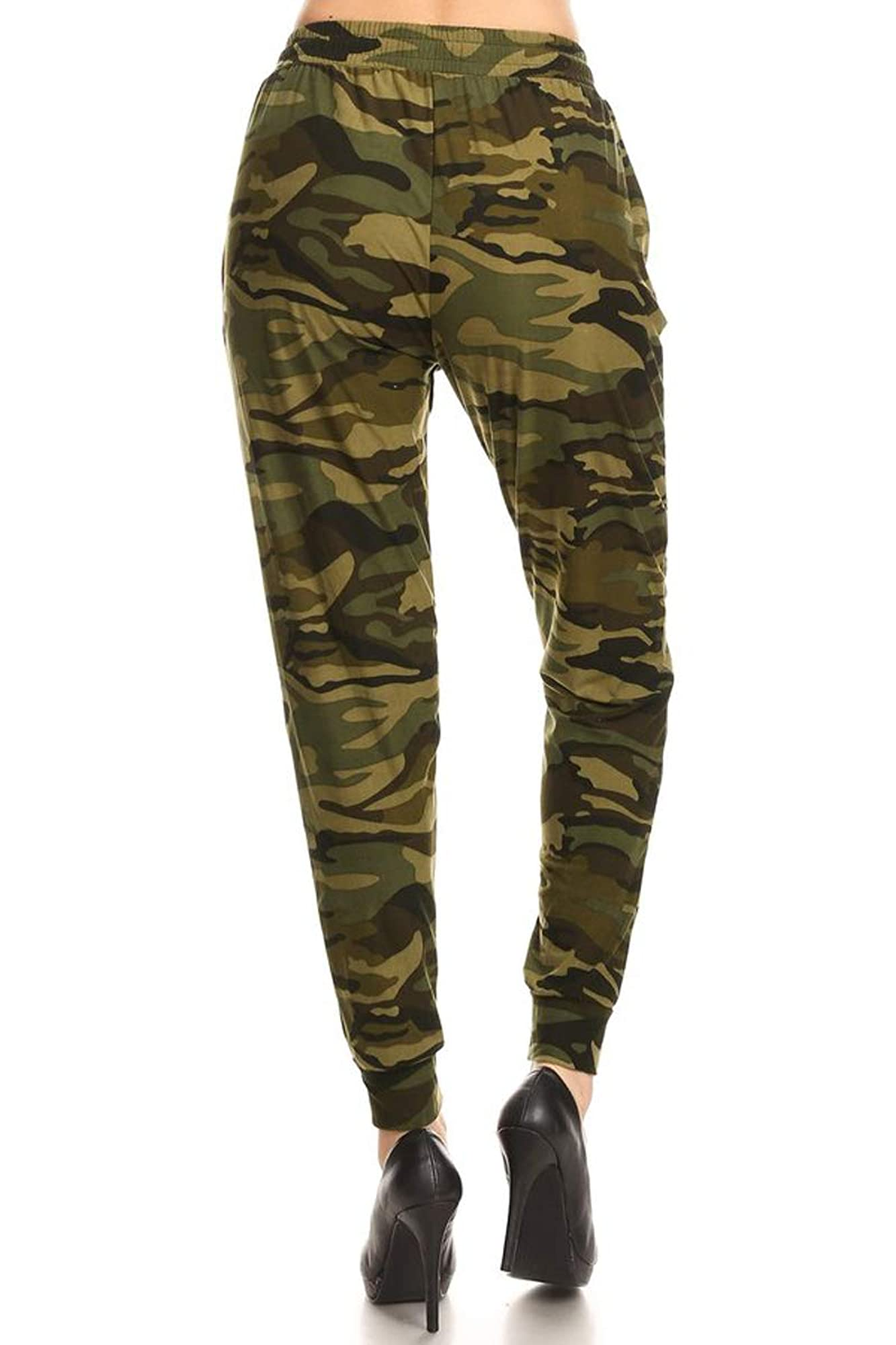 Women'S Printed Solid Activewear Jogger Track Cuff Sweatpants