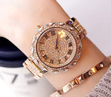 Rose Golden Watch Stainless Steel Band