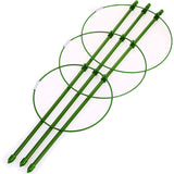 Plant Support Cages With 3 Adjustable Rings, Pack Of 3