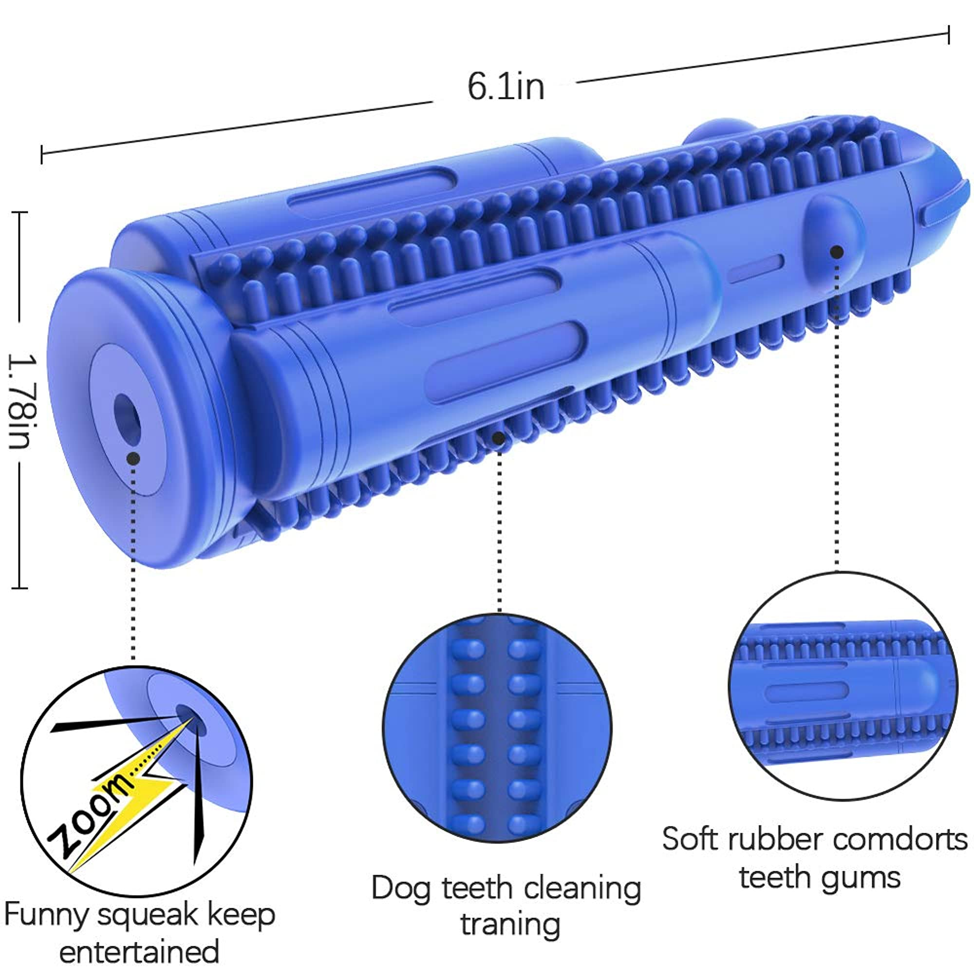Durable Squeaky Teeth Cleaning Chew Toy For Dogs