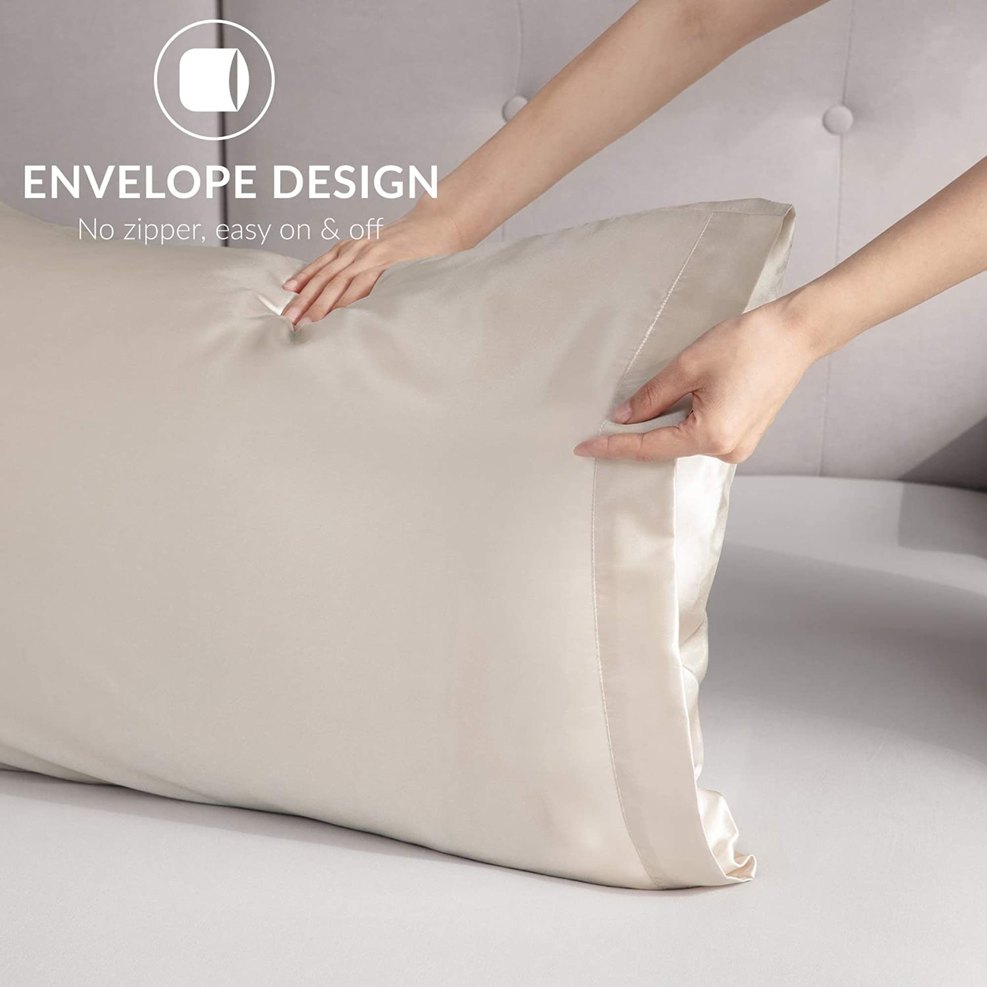 Satin Pillow Covers With Envelope Closure (Pack Of 2)