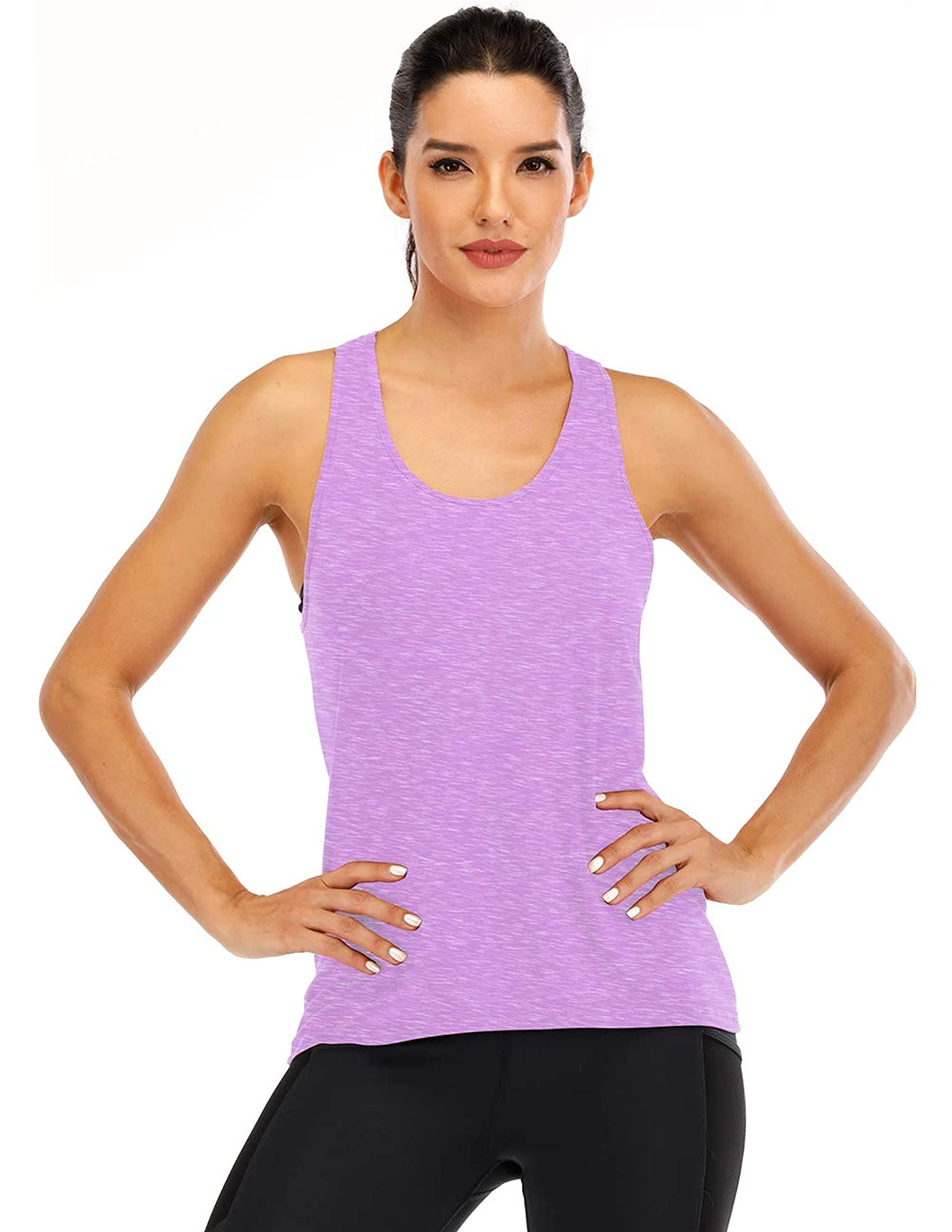 Cross Back Workout Tops For Women's