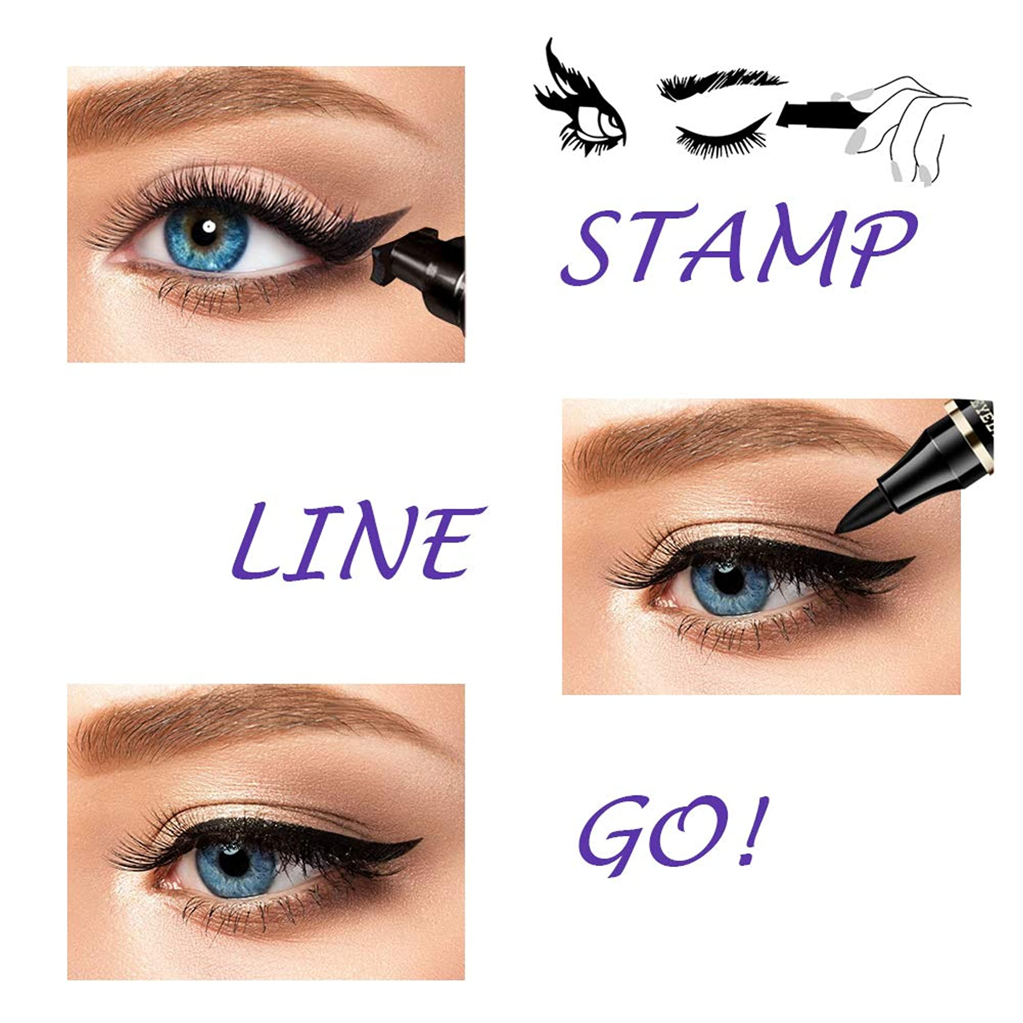 Perfect Wing Cat Eyeliner Stamp