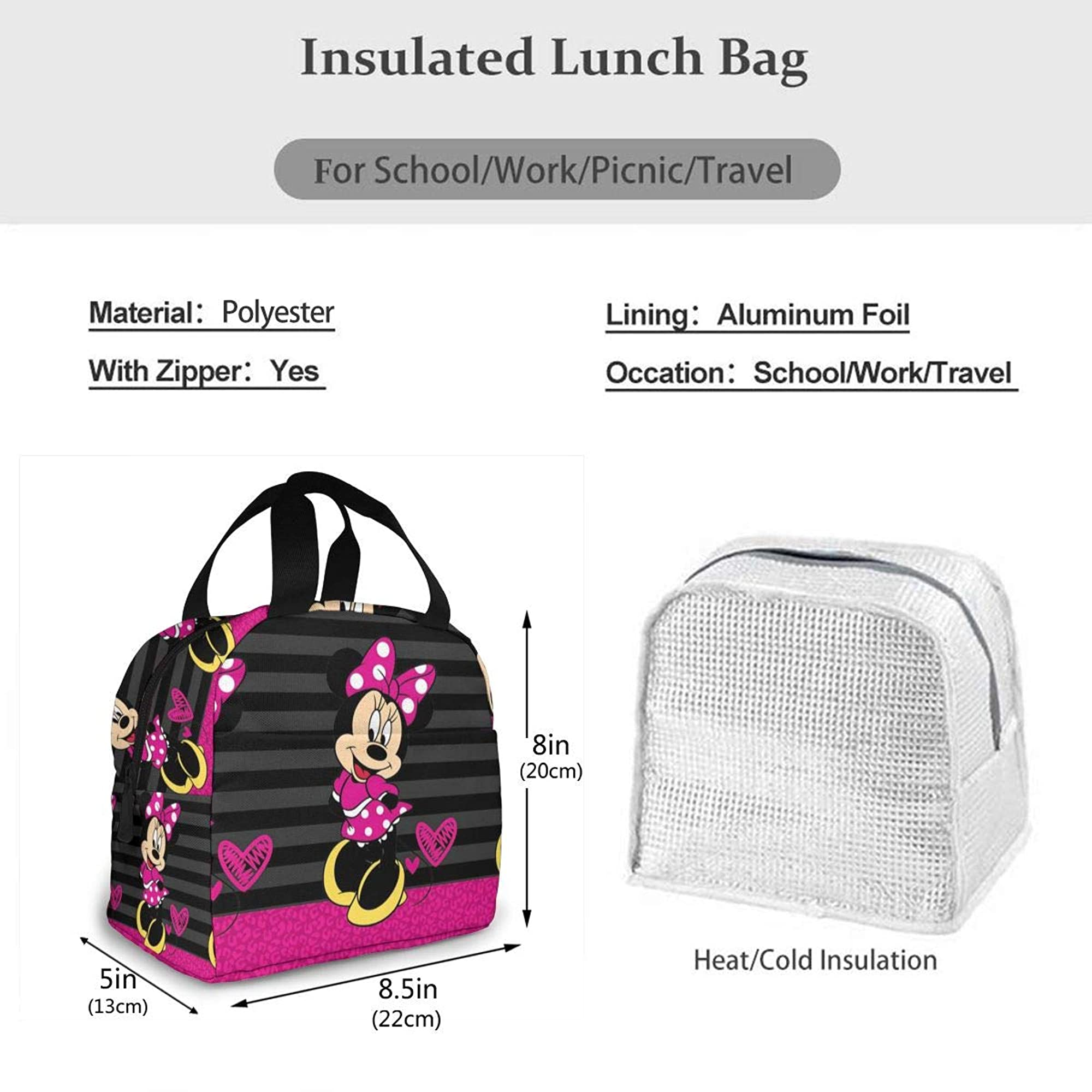 Stylish Head Portable Lunch Bag