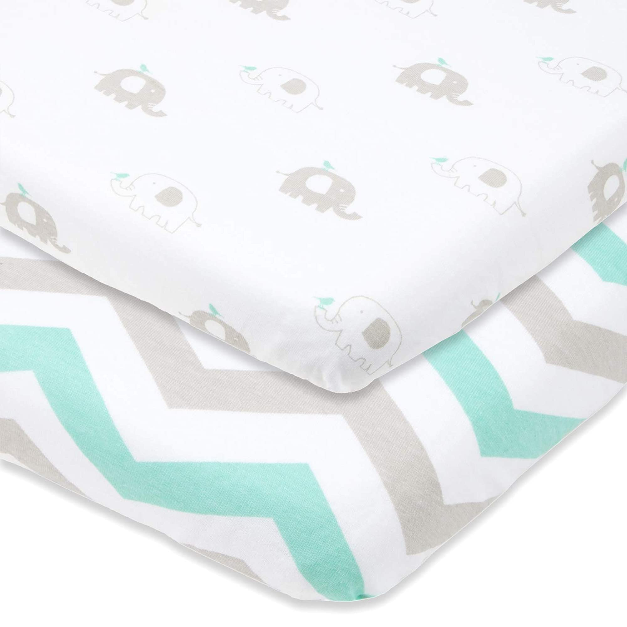 Travel Crib Fitted Sheets 2 Pack