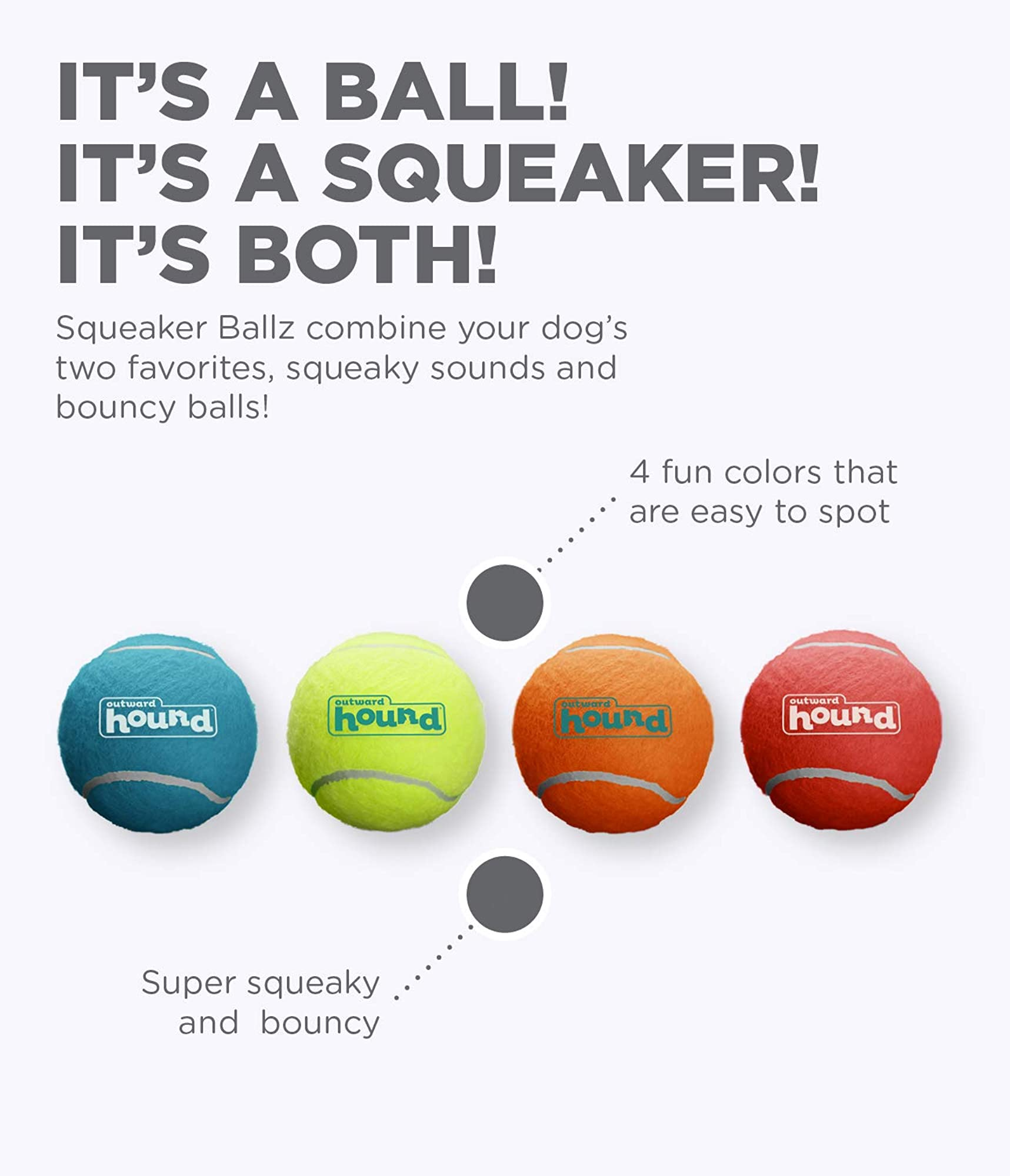 Super Squeaky Tennis Ball Dog Toys