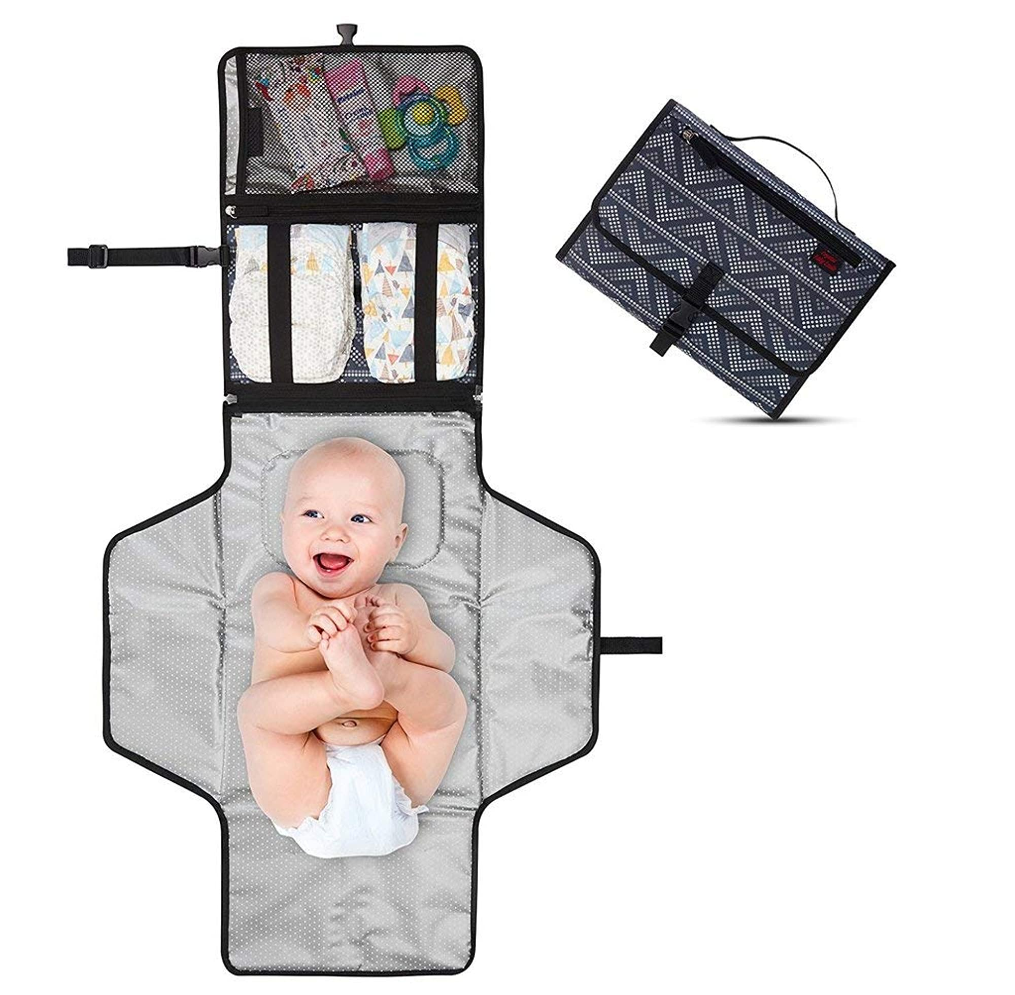 Portable Diaper Changing Clutch Kit