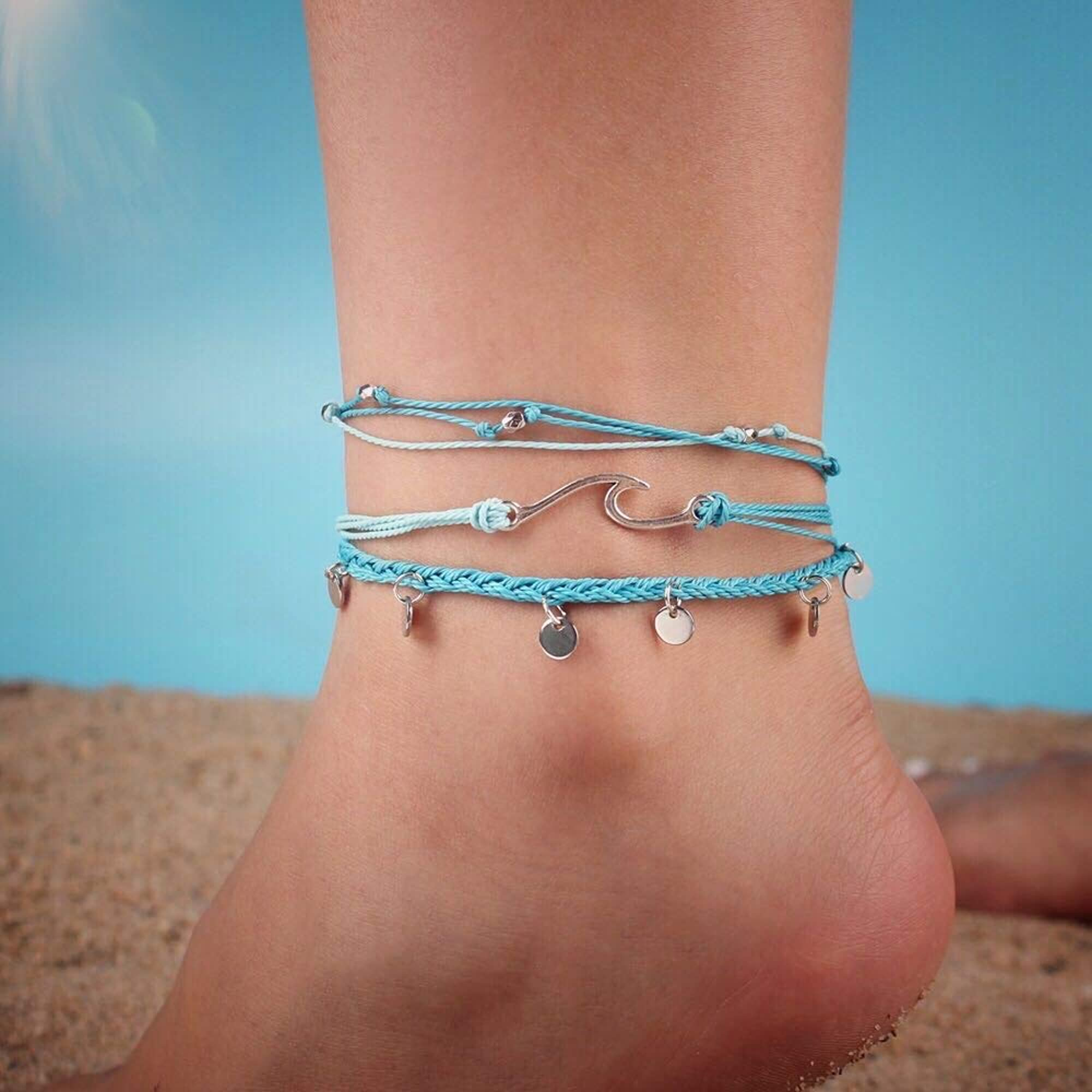 Coin String Anklets For Girls & Women