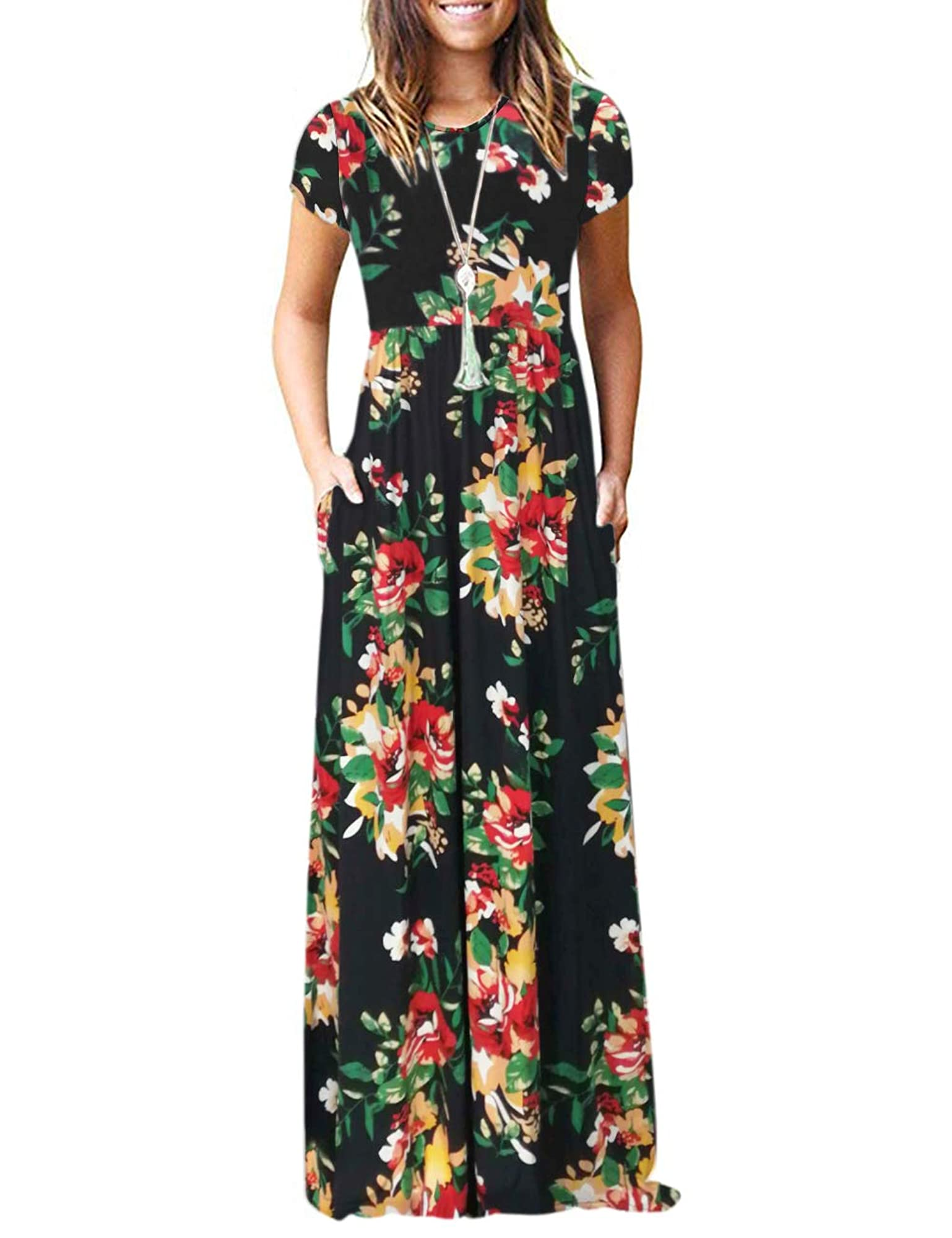 Casual Long Maxi Dress With Pockets