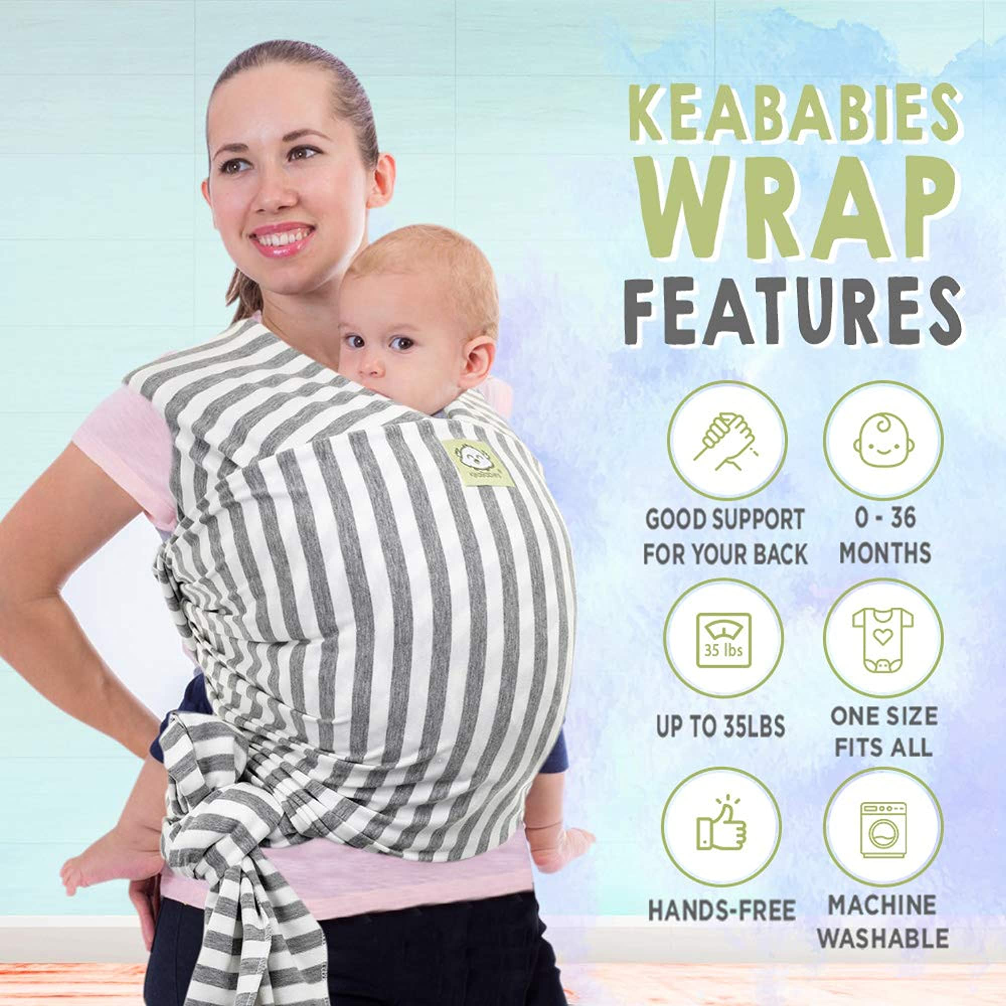 Stretchy Baby Sling Wrap Carrier Hands-Free