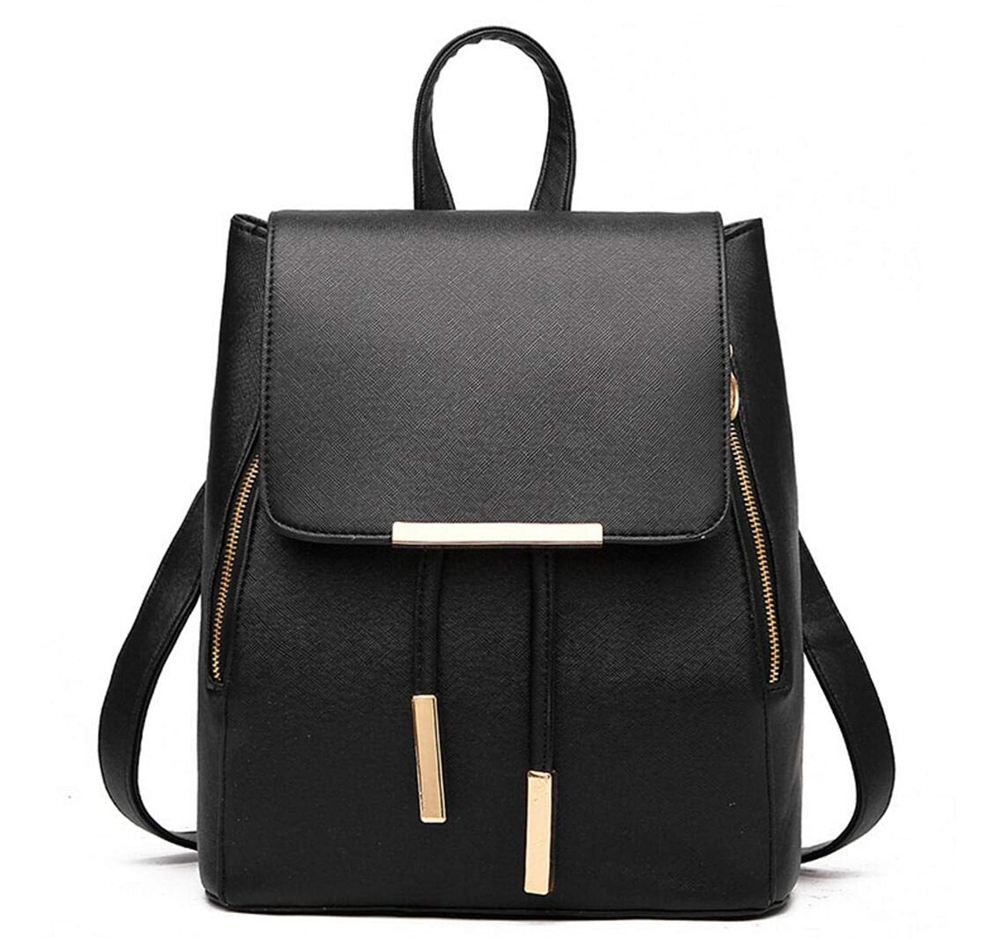 Leather Ladies Backpack Travel Bag