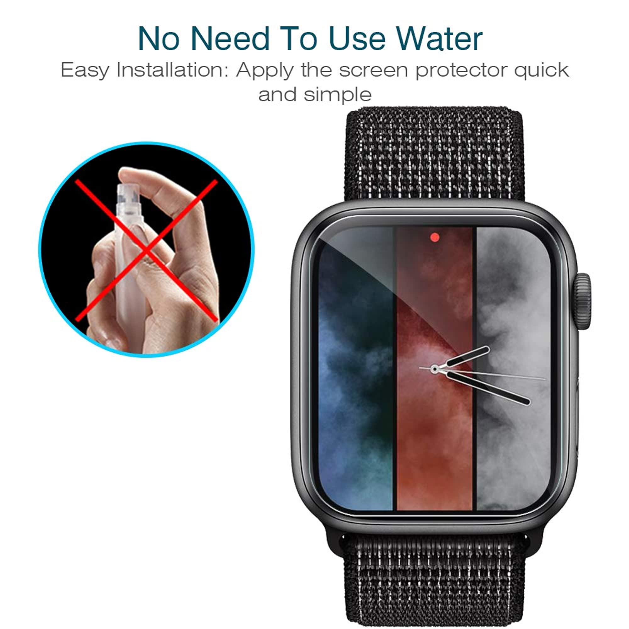 Screen Protector For Apple Watch 44Mm Series 4/5 (6 Pack).