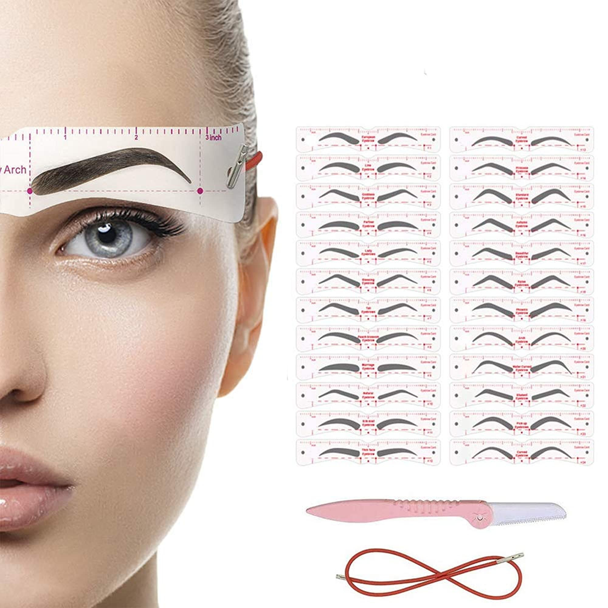 Reusable Eyebrow Template With Strap