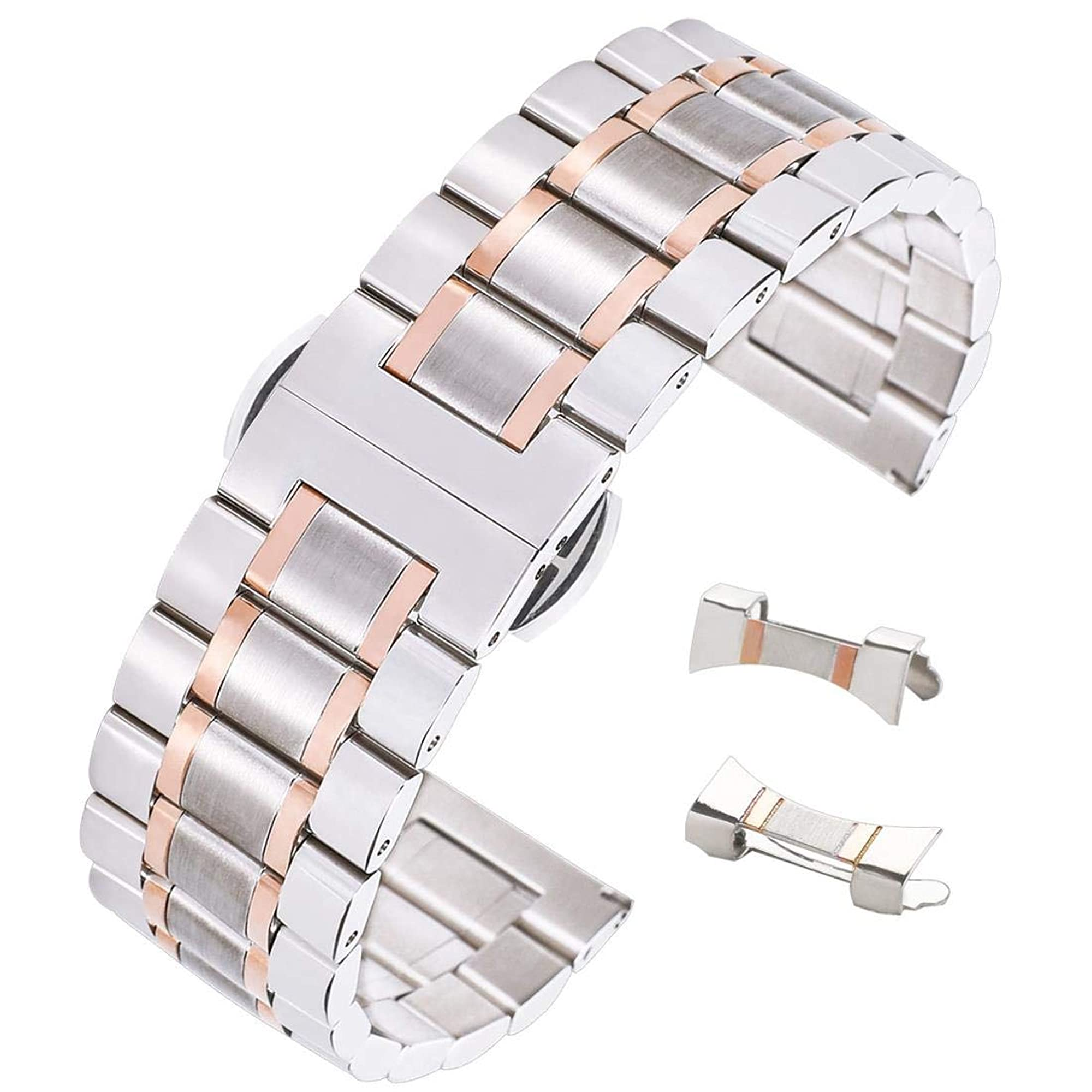 Stunning Brushed Stainless Steel Watch Strap