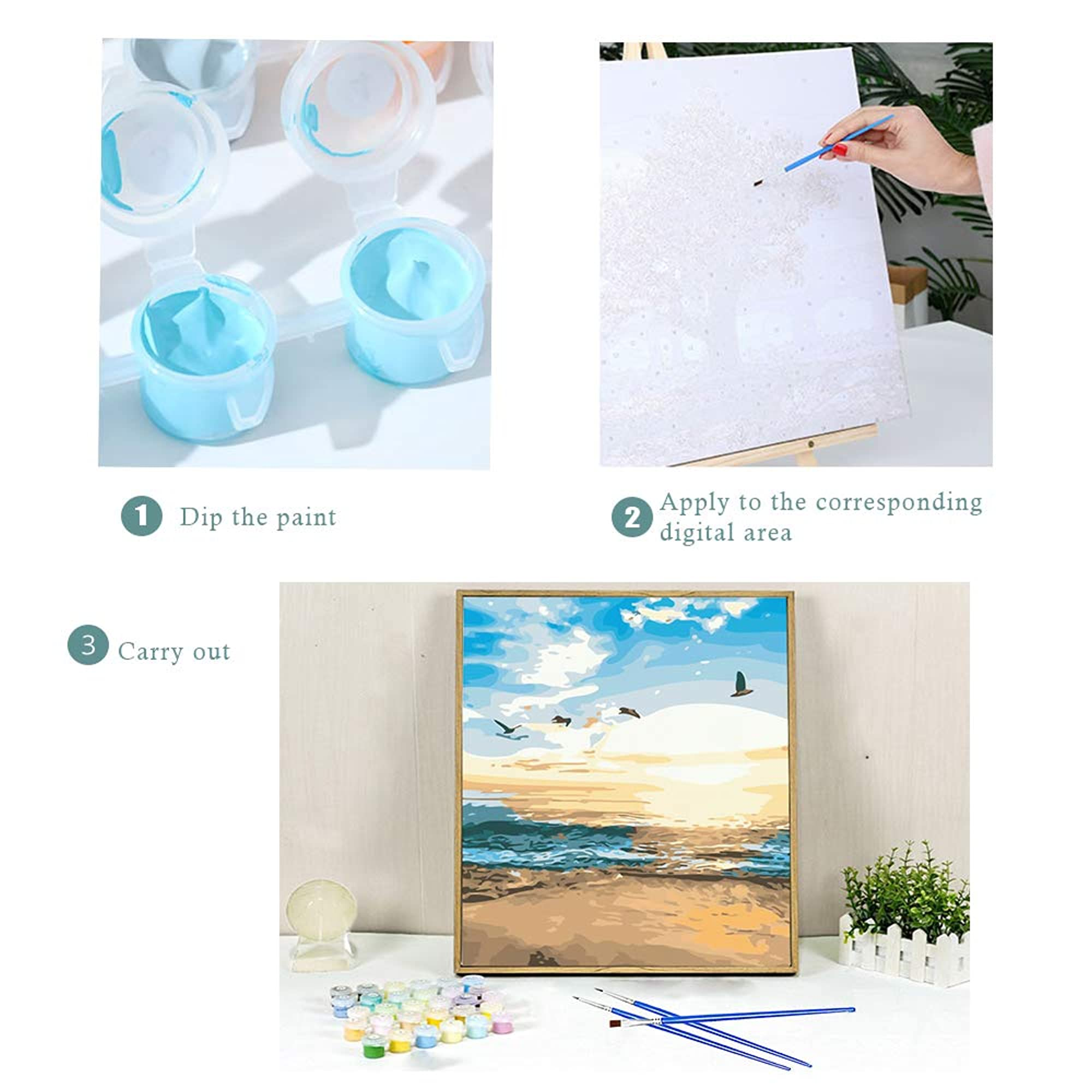 Canvas Oil Painting Kit For Adults