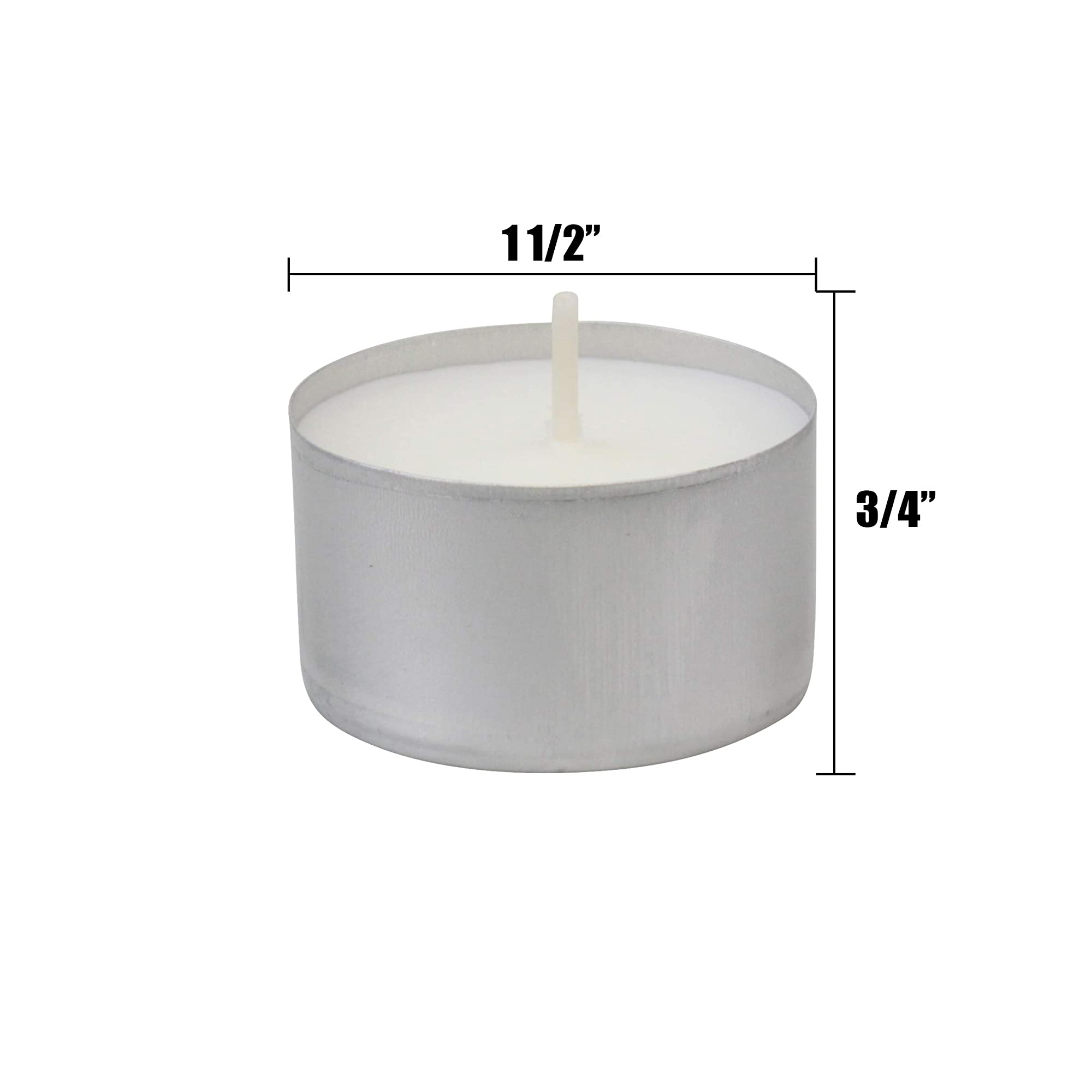 Unscented Tea Light White Candles
