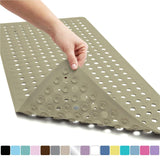 "Bathtub Mat With Drain Holes, And Suction Cups (35"" X 16"")"
